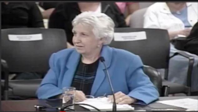 Ann Dembinski at Executive Meeting